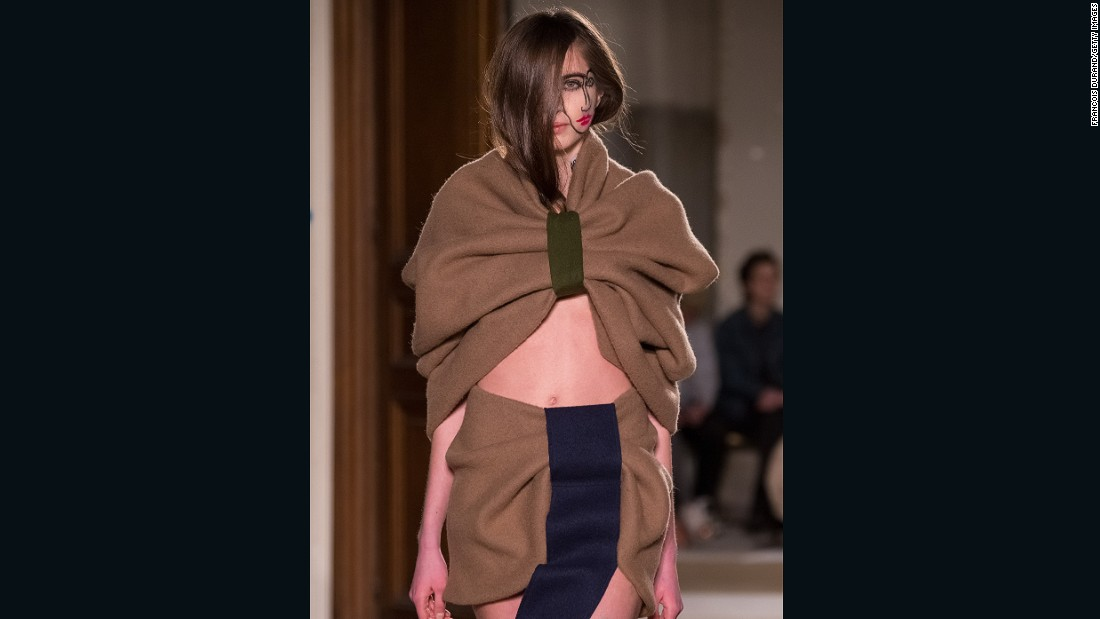"Simon Porte Jacquemus is up for the <a href=""http://www.lvmhprize.com/"" target=""_blank"">LVMH Prize</a> for young designers. This season, his designs seemed more conceptual than commercial, and some models walked with face paint inspired by German photographer <a href=""http://www.sebastianbieniek.com/"" target=""_blank"">Sebastian Bieniek</a>."
