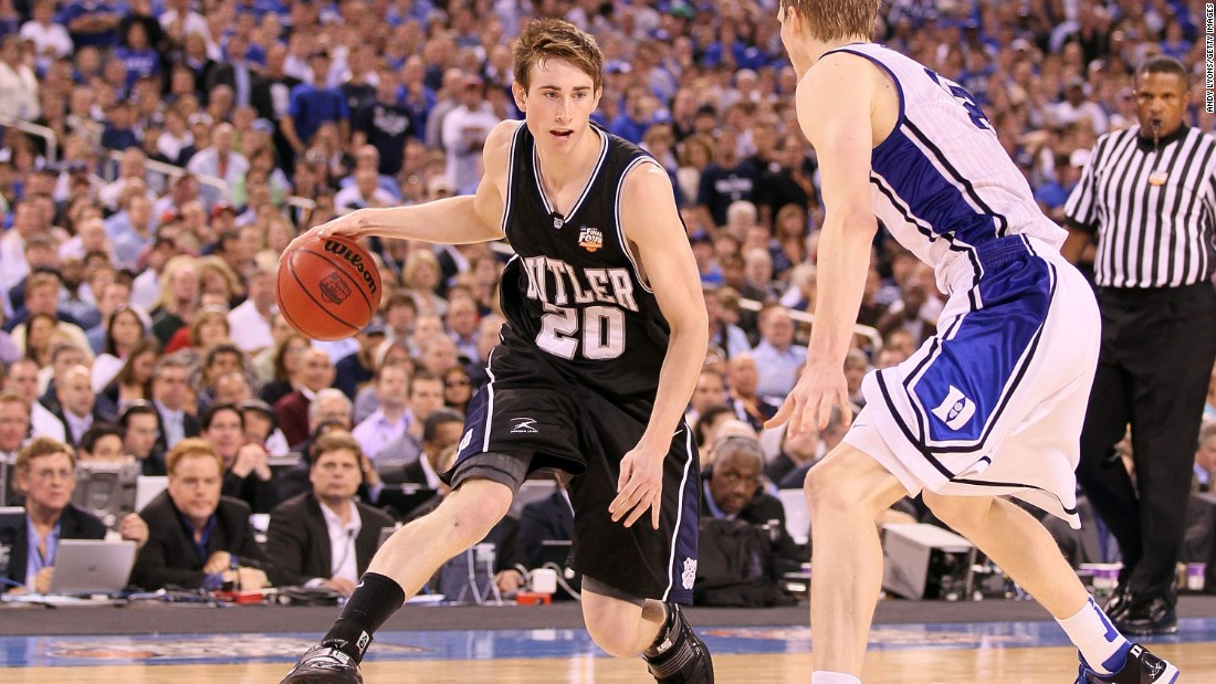 Former Butler player Gordon Hayward was one shot away from a national championship in 2010.  He is now a starter with the NBA's Utah Jazz.