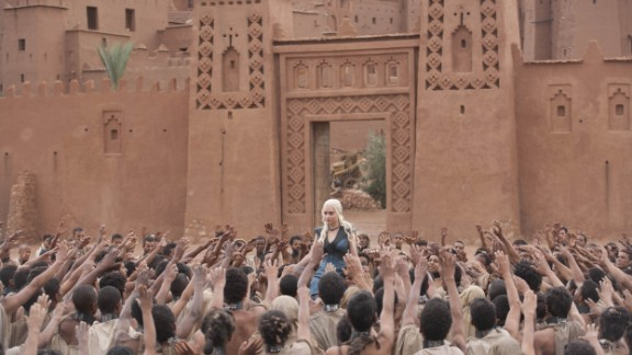 Morocco has hosted extensive filming ahead of season five, with crews returning to previously used locations such Ouarzazate. In this scene from the third series Daenerys Targaryen is living in exile in the Free Cities.