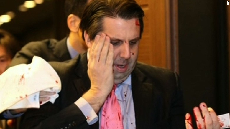 U.S. ambassador to South Korea slashed