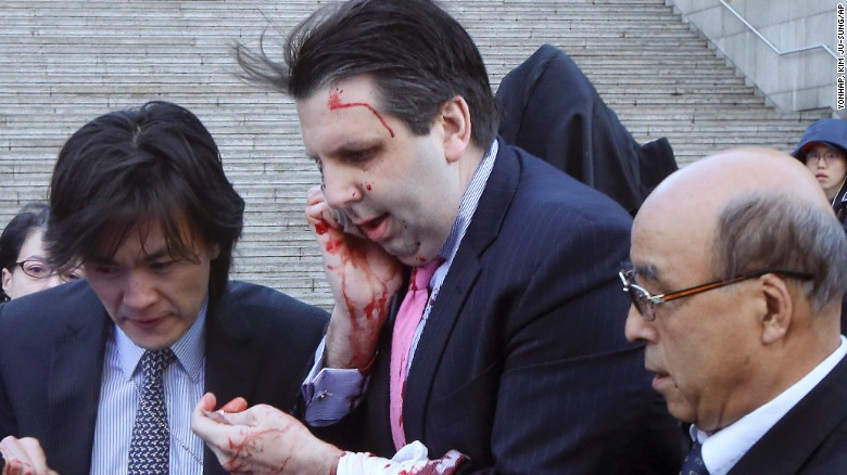 U.S. ambassador to South Korea attacked