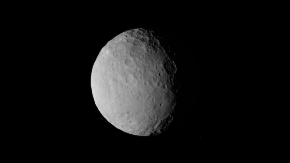 Another puzzling feature on Ceres is a pancake-shaped basin seen in the lower right side of this image. The image was taken on February 19 from a distance of nearly 29,000 miles (47,000 kilometers). The basin is nearly 186 miles (300 kilometers) across.