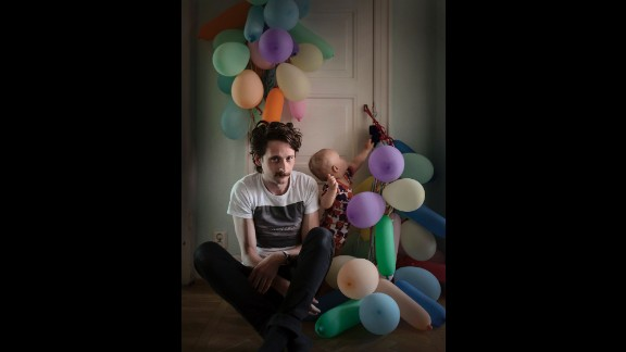"""Fredric Janson, 34, and his partner split their parental leave 50/50 after they had their son Ossian. """"Since we took turns being on leave and working from the outset of our parenthood, parental leave never felt boring or unstimulating,"""" he told Bavman. They spent the first four months at home together and then split up the rest of the leave, alternating time at home."""