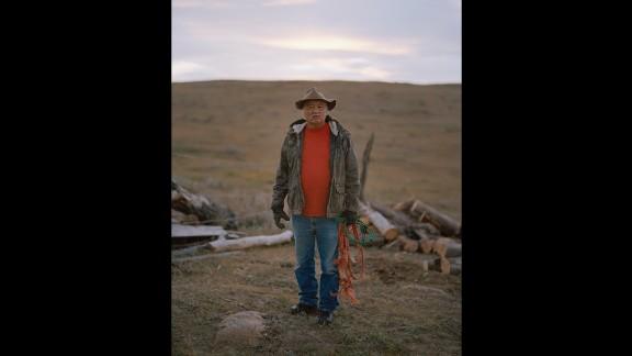 Peter Bigstone, a notable Assiniboine elder.