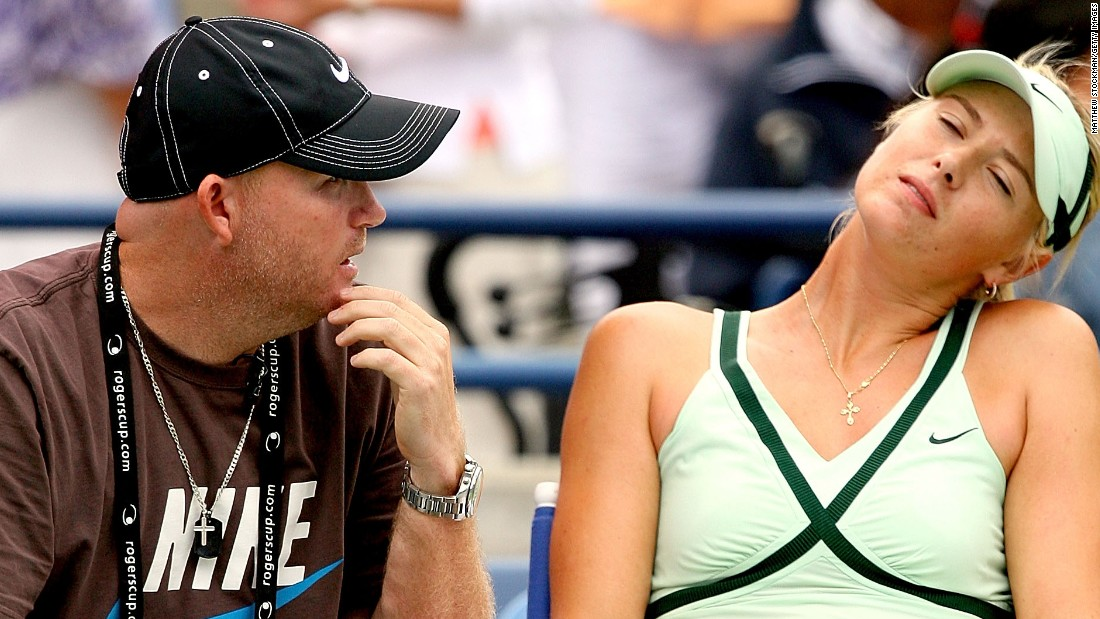 Like Bajin, Michael Joyce, left, was once a high-profile hitting partner. He worked with Maria Sharapova before becoming her coach.