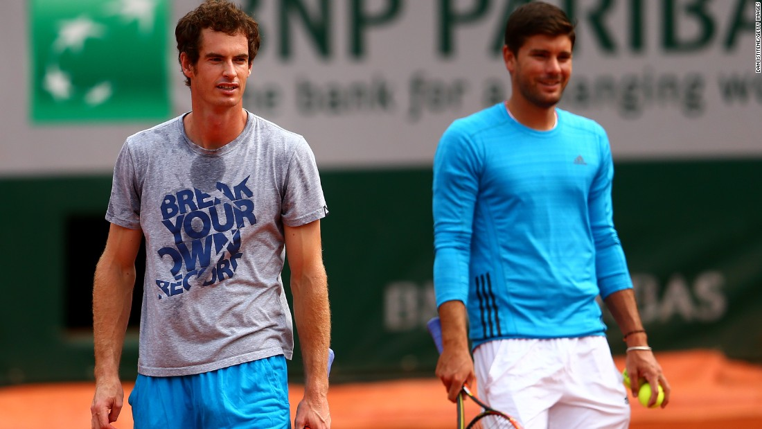 Dani Vallverdu, right, served as the hitting partner and co-coach to Andy Murray for years. He left the Murray camp and is now coaching Tomas Berdych.