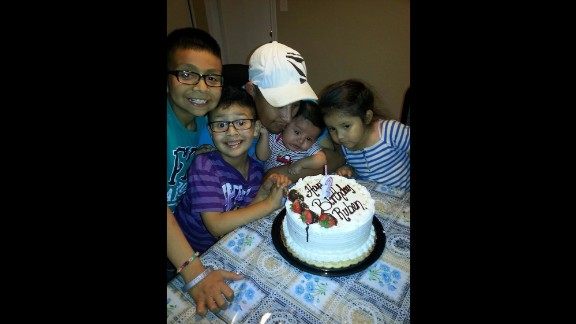 """Ruben Garcia Villalpando, shown here celebrating his birthday with his children, """"lived in fear that anything would be taken away from his family,"""" his brother-in-law said."""