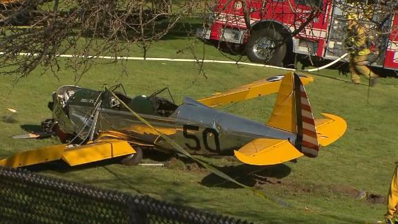 Photo of the plane crash wreckage, courtesy KTLA.