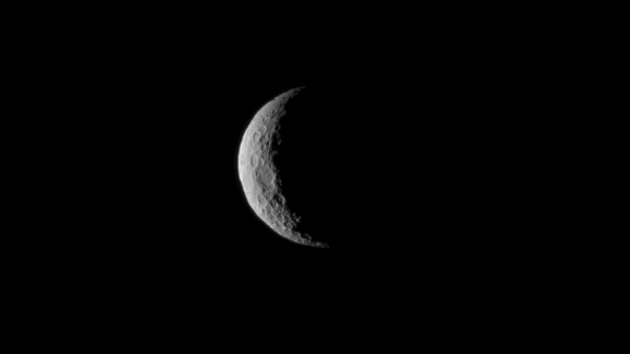 Dawn snapped this image of Ceres on March 1, 2015 just before entering orbit on March 6. The image was taken at a distance of about 30,000 miles (about 48,000 kilometers).