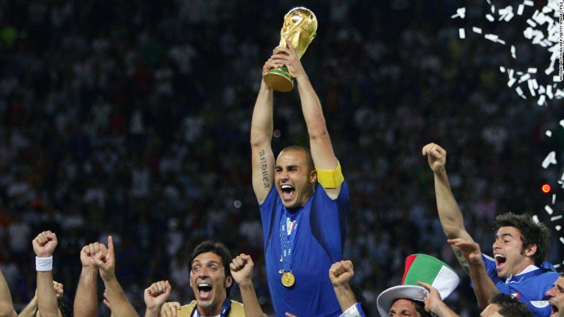It was Cattelan's native Italy which won the 2006 World Cup, defeating France on penalties in the final.
