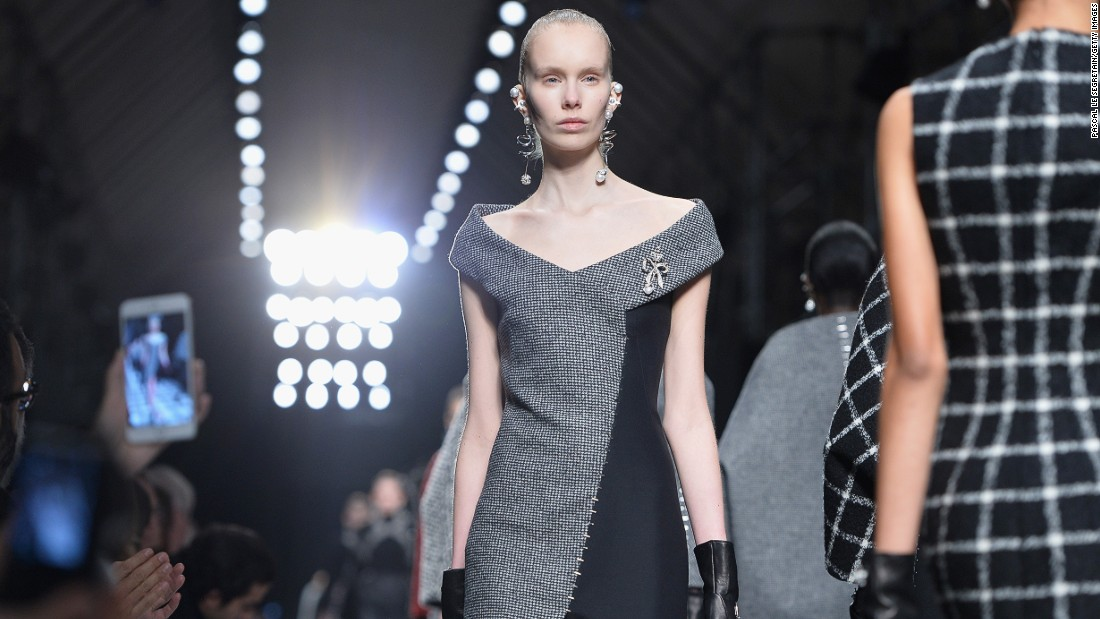 Designer Alexander Wang was inspired by house founder Cristóbal Balenciaga's original clients: the society women of the 1950's and 1960's.