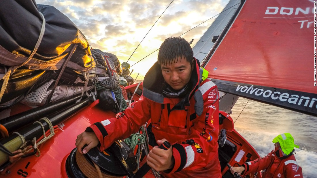 The race kicked off in Alicante, Spain, in October, and will finish nine months later in Gothenberg, Sweden. Sailors must be physically -- and emotionally -- strong to survive almost a year at sea.