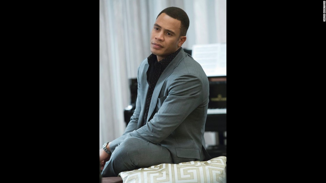 Trai Byers portrays oldest Lyon son Andre, who serves as chief financial officer of Empire Records. Andre has a mental illness and is desperate to take over the company from his father.