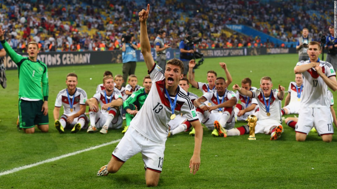 Muller's greatest triumph came in 2014 when he scored five goals to help Germany to its first World Cup triumph since 1990. After mauling hosts Brazil 7-1 in the semifinals, Germany edged past Argentina 1-0 in the showpiece final.