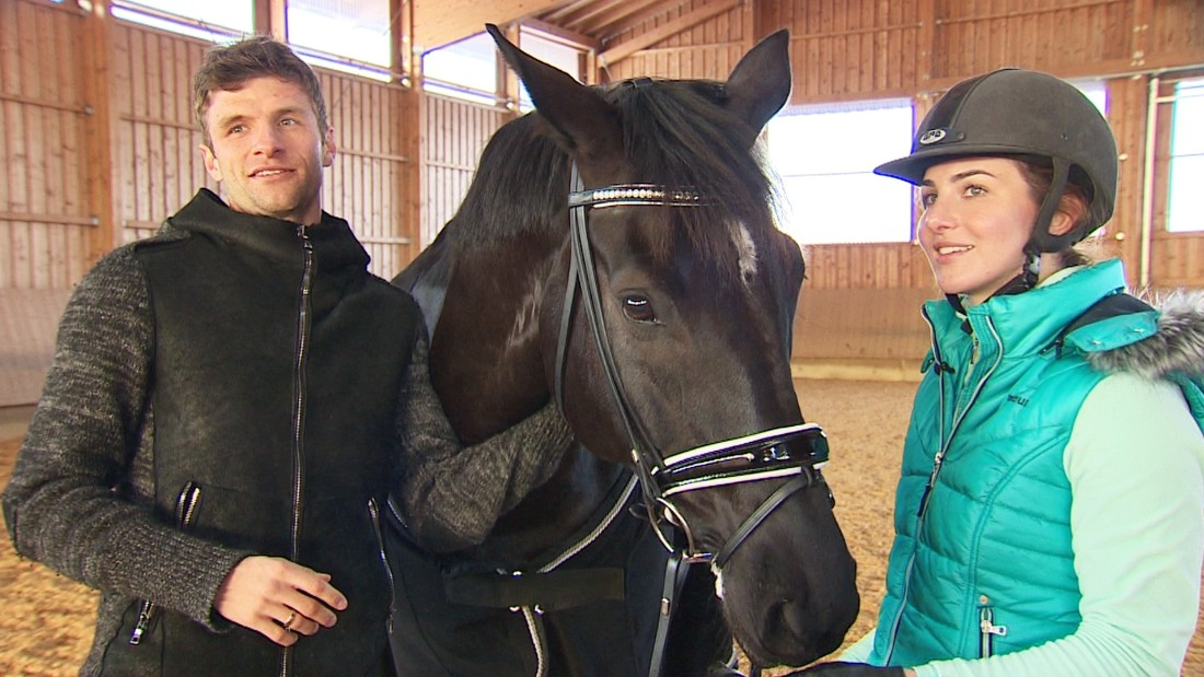 The Mullers own eight horses which they stable at a farm just outside Munich. Lisa spends hours there training with her horse Birkhofs Dave and recently won her first national level title at the Grand Prix in the Bavarian town of Kreuth.
