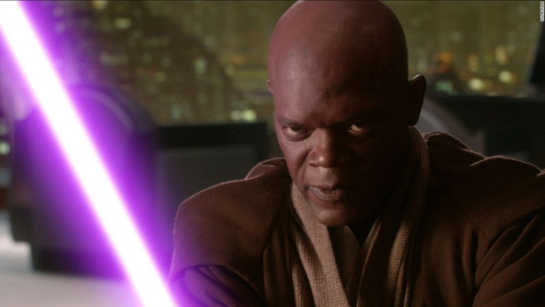 "Samuel L. Jackson played Jedi Master Mace Windu in ""Attack of the Clones"" and ""Revenge of the Sith."""