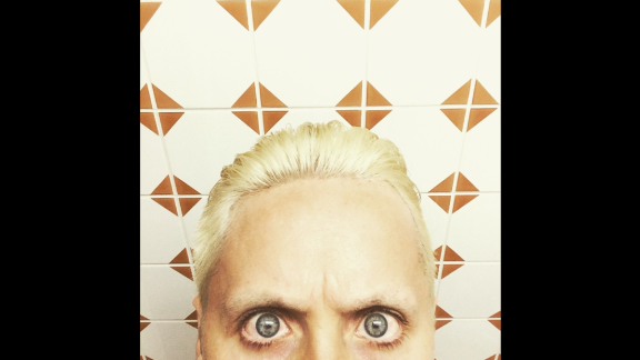 "Actor and singer Jared Leto shows off a new hairstyle on Sunday, March 8. ""Take a deep look inside,"" he said on Instagram. ""Like what you see? Or not. #lovelustfaithdreams"""
