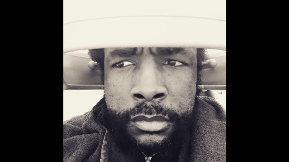 "Questlove, the drummer for The Roots, takes a selfie while in a hair dryer on Monday, March 9. The caption: ""... when ConEd tells your hair jawn they about to cut to whole block's electric supply off in 10 or 15...."""