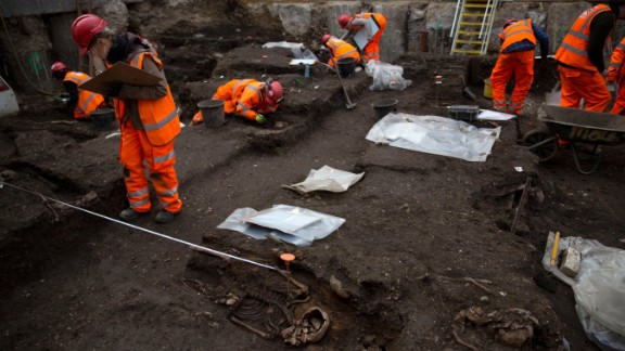 The site was found at an entrance of the city