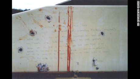 Photos of what prosecutors say are Dzhokhar Tsarnaev writings on the inside of the boat he was captured in after running from police in the aftermath of the Boston Bombing. Credit: 	US Attorney's Office