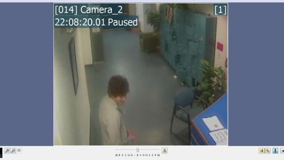 Prosecutors say this still image from surveillance video shows Tsarnaev in the UMass Dartmouth gym the day after the bombings.