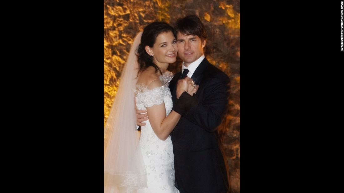 Tom Cruise and Katie Holmes at Castello Odescalchi on their wedding day in November 2006 in Bracciano, near Rome.