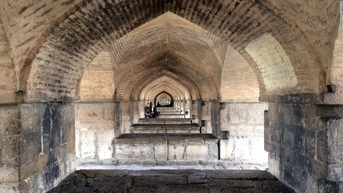 There are also sitting areas inside the arches of Khaju Bridge, which has its origins in the 17th century.
