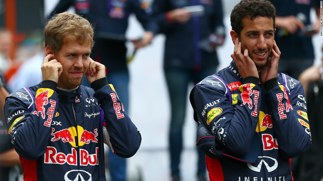 Sebastian Vettel was Ricciardo's teammate at Red Bull until the German moved to Ferrari at the end of last season.