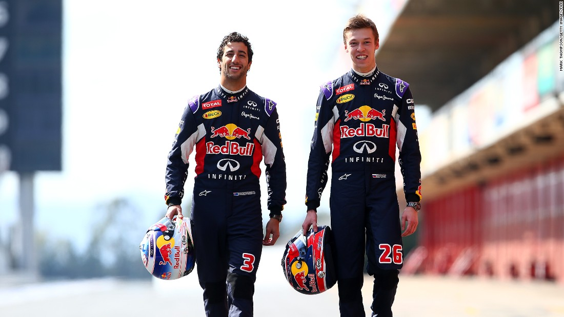 Twenty-year-old Daniil Kvyat of Russia subsequently joined the team, ensuring Ricciardo's promotion to No.1 driver.