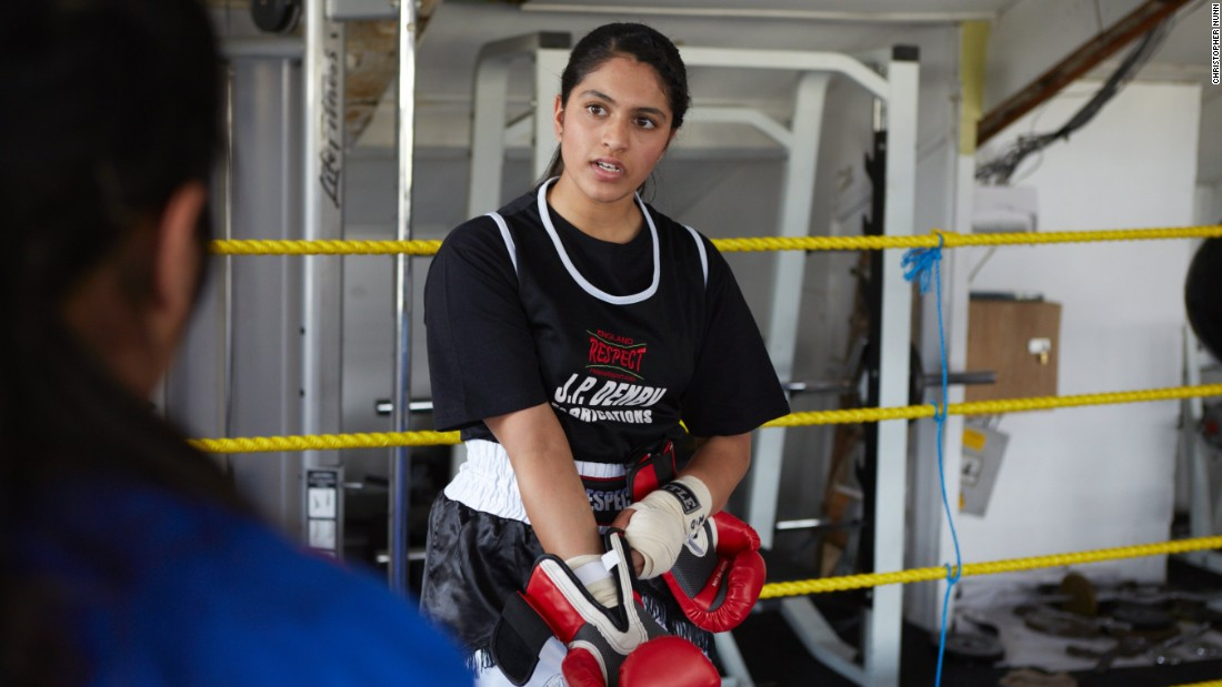 Freyaa Ali says her parents are supportive of her decision to box. The 18-year-old aspires to study medicine and would like to carry on acting at university.