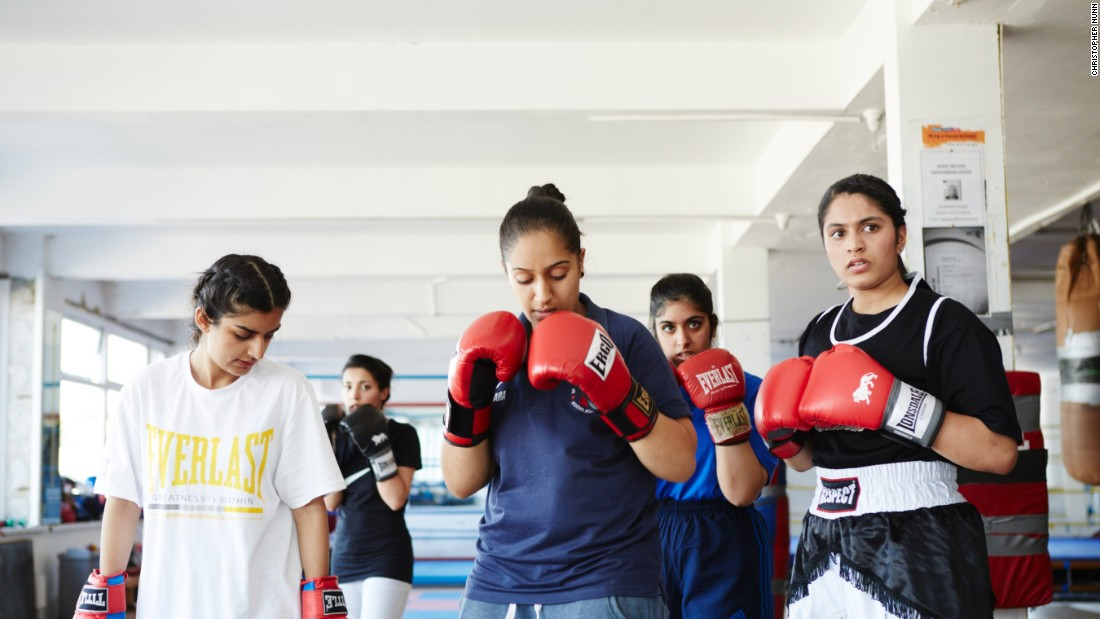 "The 20-year-old Sadiq was the first Asian Muslim female to box in the UK, and now also does personal training and coaching for others. After experiencing discrimination she is passionate about equality. ""If I see a girl training or a boy training or a little kid training I look at each one of them equally, I look at them all as boxers and I wouldn't treat them differently to anyone else."""