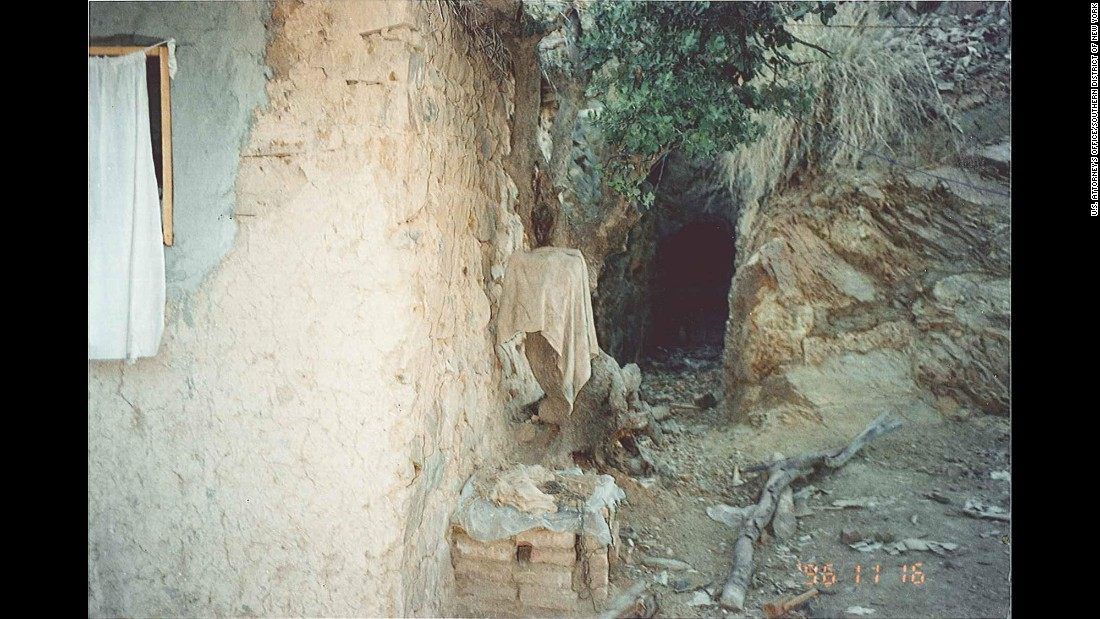 A secret passageway is seen at Tora Bora. Bin Laden told his sons that they must know their way out of the mountains in case of war.