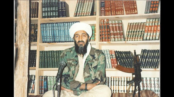 Bin Laden is seen inside his Tora Bora hideout, about to record an address. Starting in 1996, when he issued his first fatwa, or religious decree, to kill Americans, bin Laden began granting interviews to reporters to publicize his grievances against the United States and its allies.