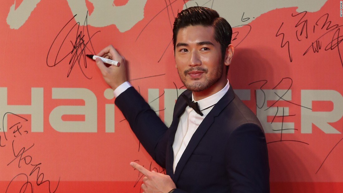 "Recognize him? Taiwanese-Canadian Godfrey Gao's good looks have landed him movie roles, adoring Buzzfeed articles (""<a href=""http://www.buzzfeed.com/mattortile/godfrey-is-godly#.pb8qmzWq"" target=""_blank"">41 Photos That Prove Godfrey Gao Is Actually Godly</a>"") and a contract with Louis Vuitton as their its Asian male face."