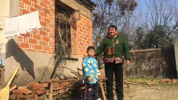 Six-year-old Lu Yiming and his grandma Tang Xinying