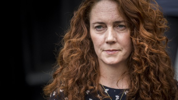 """Former News International chief executive Rebekah Brooks outside her Chipping Norton home. Along with Clarkson, Cameron she is part of the so-called """"Chipping Norton Set."""""""