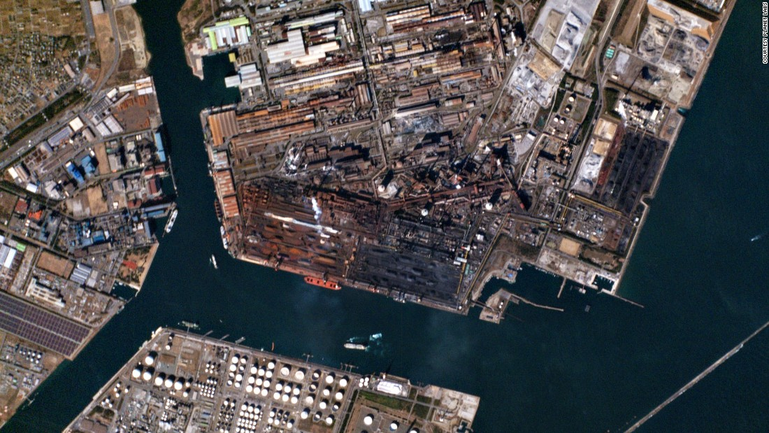 The Kashima industrial zone in the Ibaraki prefecture, Japan.
