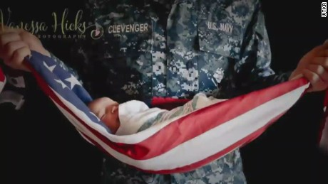 pkg baby wrapped in american flag_00000221