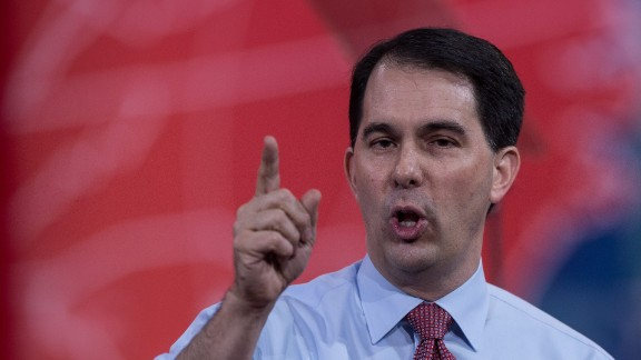 Walker speaks at the annual Conservative Political Action Conference at National Harbor, Maryland, outside Washington, D.C. on February 26, 2015.