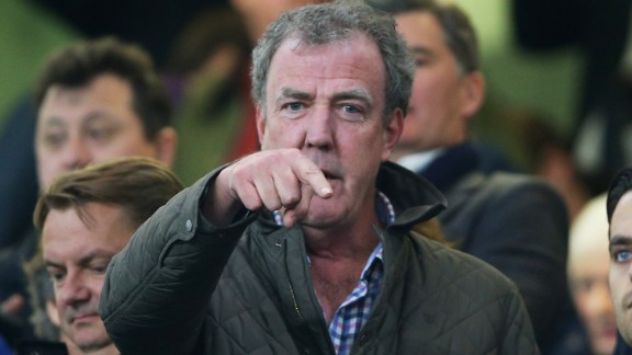 TV presenter Jeremy Clarkson attends the UEFA Champions League Round of 16, second leg match between Chelsea and Paris Saint-Germain at Stamford Bridge on March 11, 2015 in London, England.