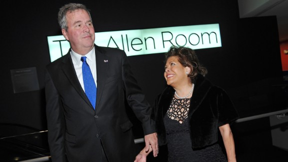 Bush (left) and wife Columba Bush attend the 2012 Lincoln Center Institute Gala at Frederick P. Rose Hall, Jazz at Lincoln Center on March 7, 2012, in New York City.