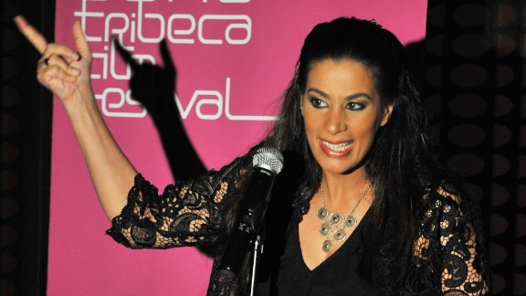 Comedian Maysoon Zayid performs onstage at Comedy Night at the W Hotel Doha during the 2009 Doha Tribeca Film Festival.