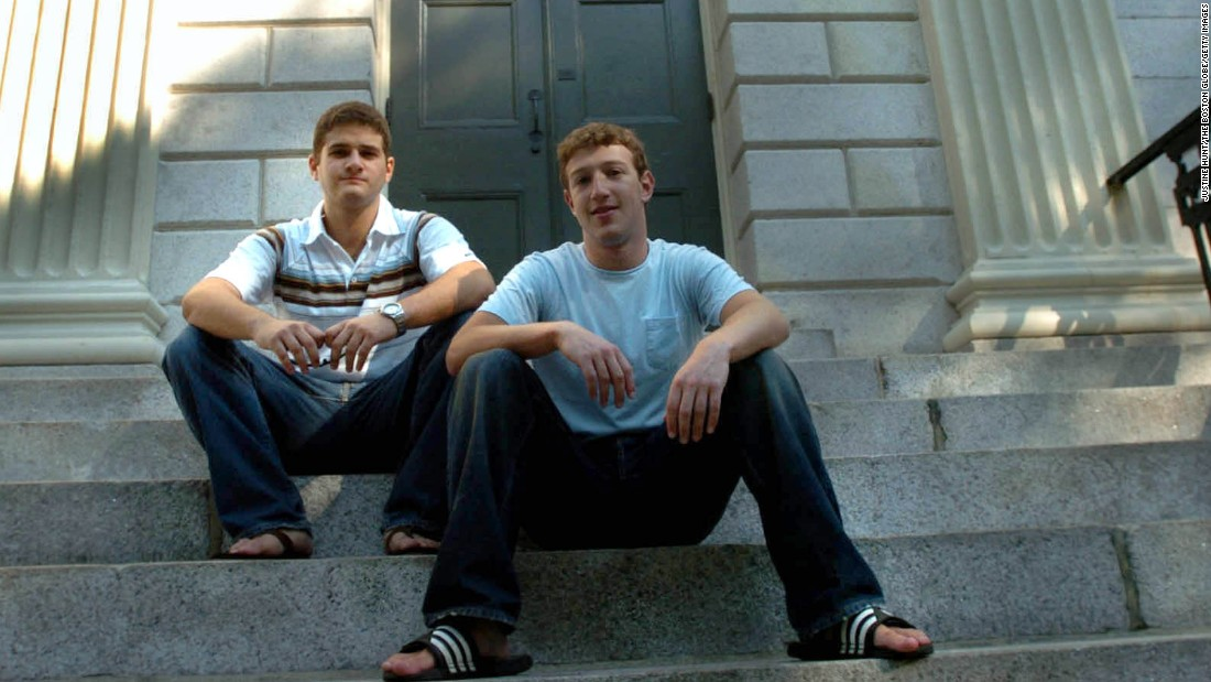 One of the most influential startups of the post-bust era, Facebook launched in 2004 as thefacebook.com, founded by Harvard University students Mark Zuckerberg, right, and Dustin Moscovitz. As of December, 890 million people a day were using it, according to the company.