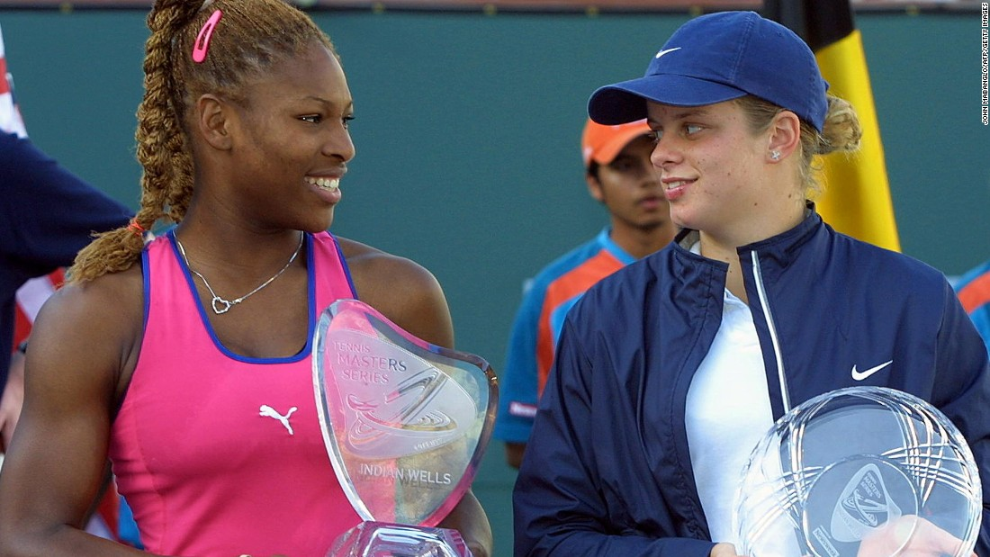 Serena Williams, left, won the Indian Wells tennis tournament in 2001 by beating Kim Clijsters. But that was only half the story...