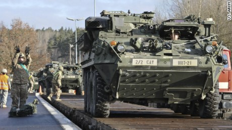 U.S. troops in European exercises