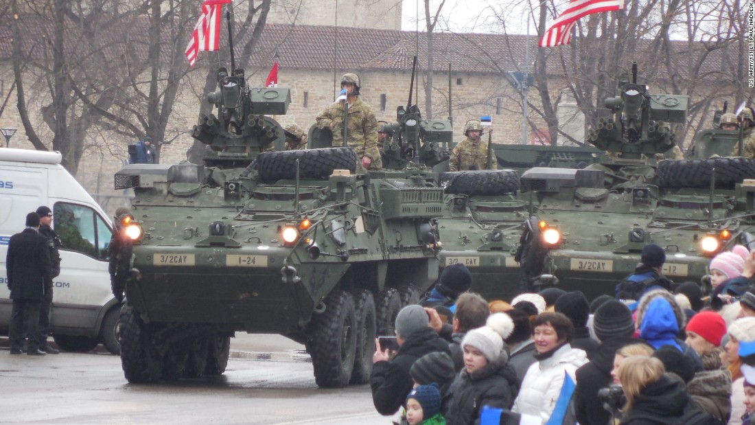 soldiers of iron troop 3rd squadron 2nd cavalry regiment rider strykers through the estonian