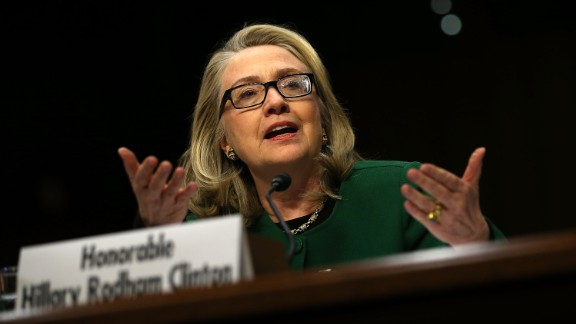 Hillary Clinton testifies before the Senate Foreign Relations Committee on Capitol Hill on January 23, 2013 in Washington, D.C. Lawmakers questioned the former secretary of state about the security failures during the September 11, 2012 attacks against the U.S. mission in Benghazi, Libya, that led to the death of four Americans, including U.S. Ambassador Christopher Stevens.