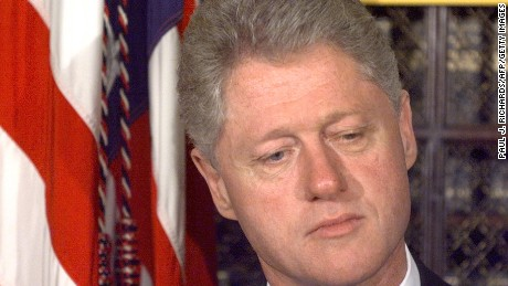 Former President Clinton on the day Republican House majority adopted a motion to launch an impeachment inquiry into his presidency.