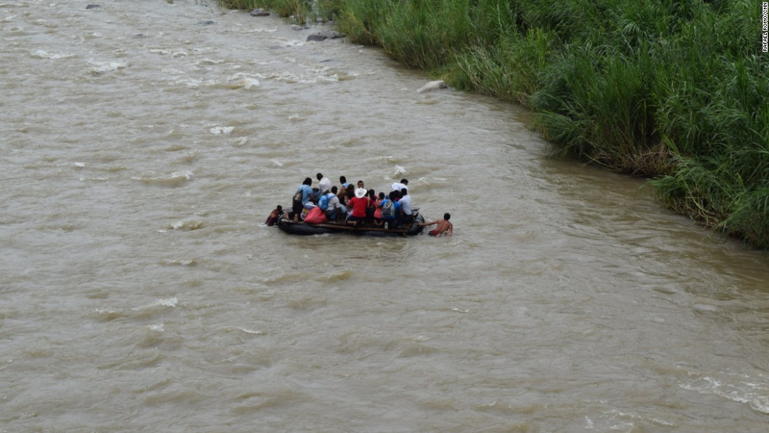 In multiple places, the Guatemala-Mexican border marked by the Suchiate River is wide open. People cross the river on rafts without any surveillance or migration enforcement from authorities.