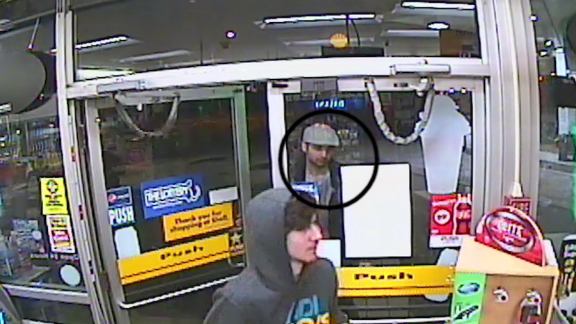 Surveillance footage from after the bombings shows Dzhokhar Tsarnaev at a gas station convenience store with his brother, Tamerlan, looking on.